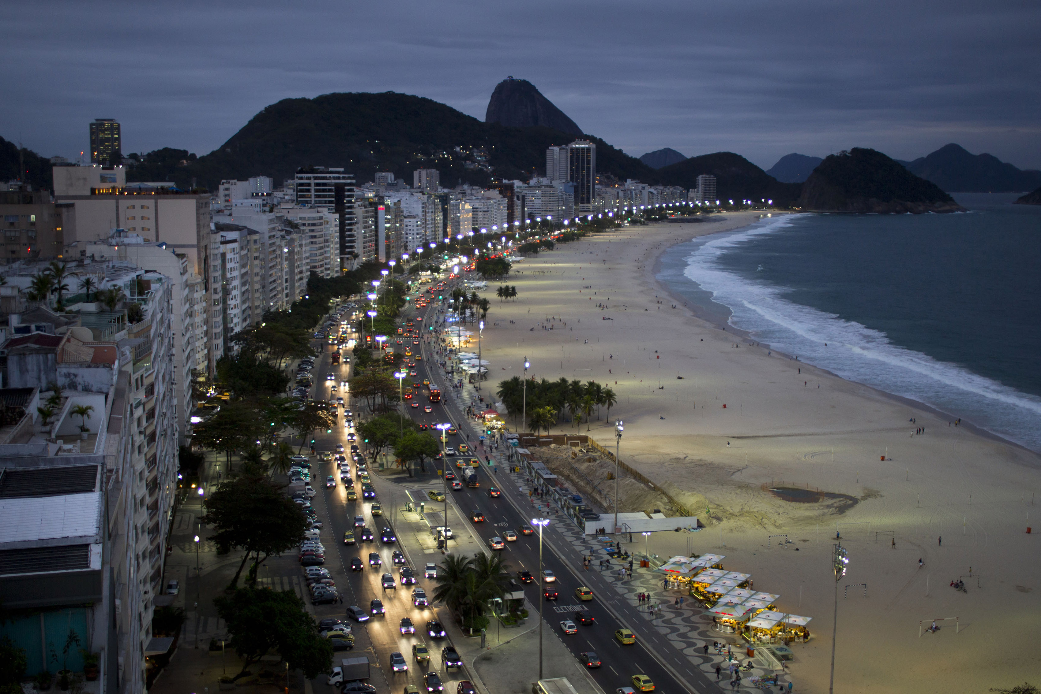Na pláži v Riu