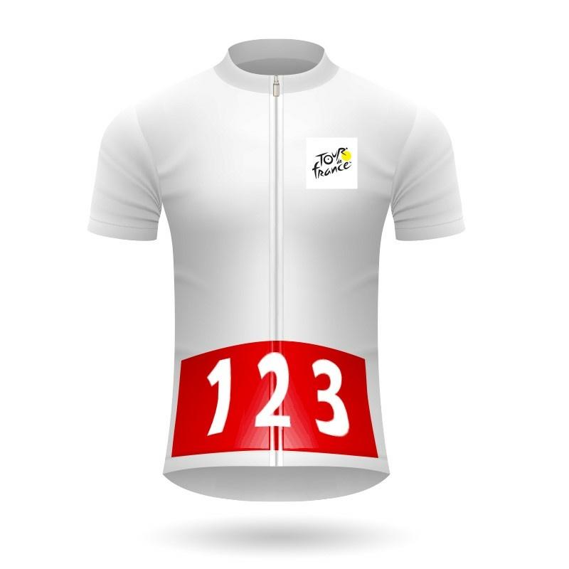 Dres s červeným podkladom Tour de France