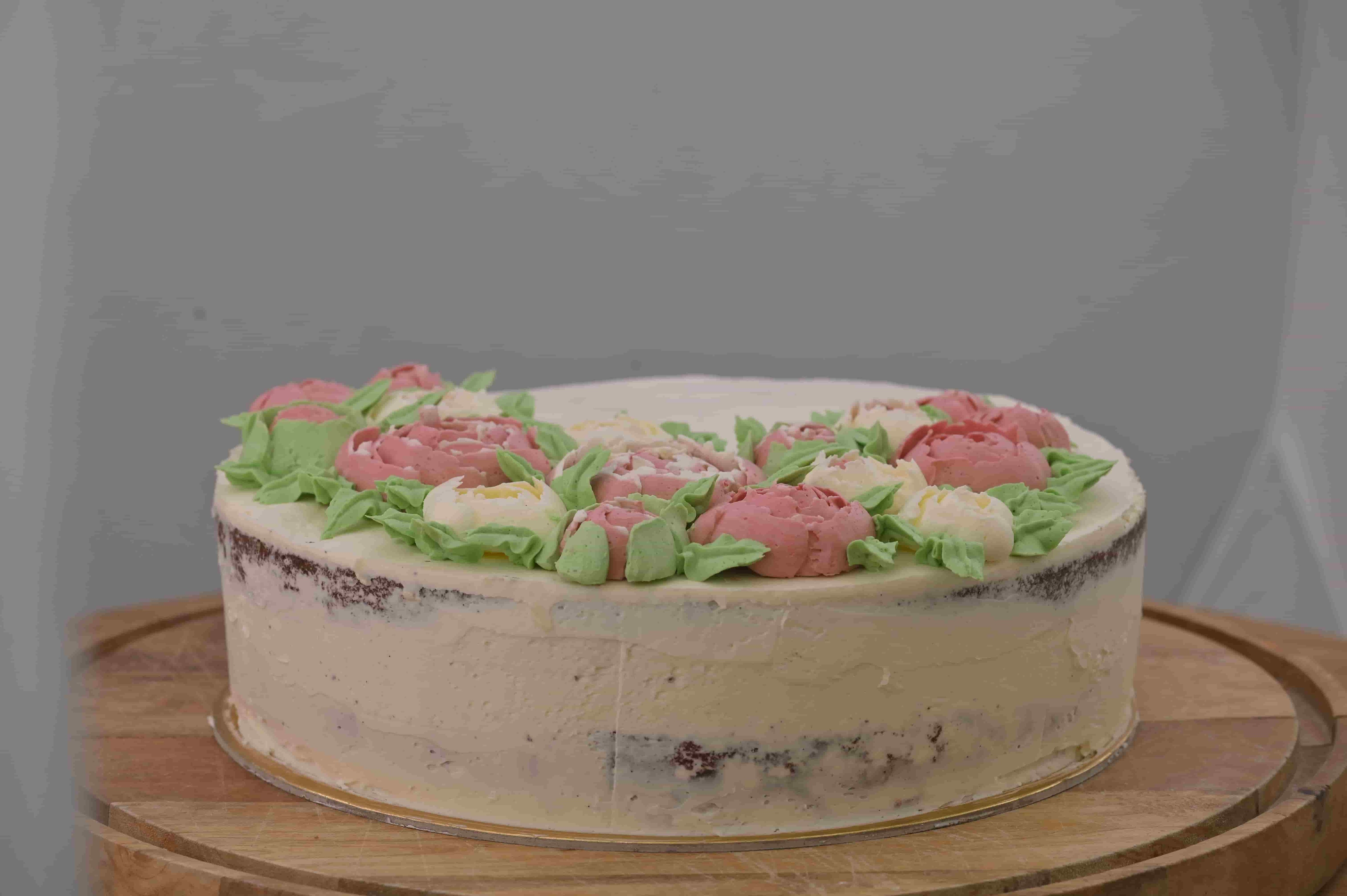 Vanilková torta s domácim pudingom