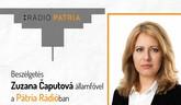 Zuzana Čaputová a Pátria Rádióban