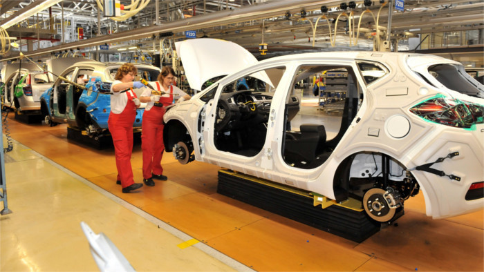 11 percent annual drop in the number of cars made in Slovakia