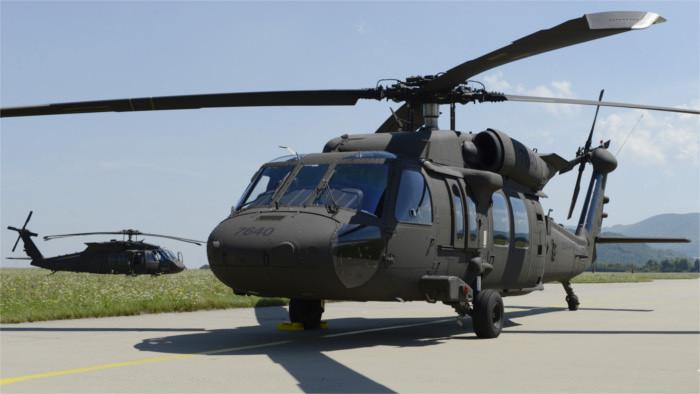 Переговоры Минобороны СР с США о вертолетах
