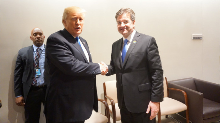 Lajčák holds talks with both Trump and Lavrov in New York