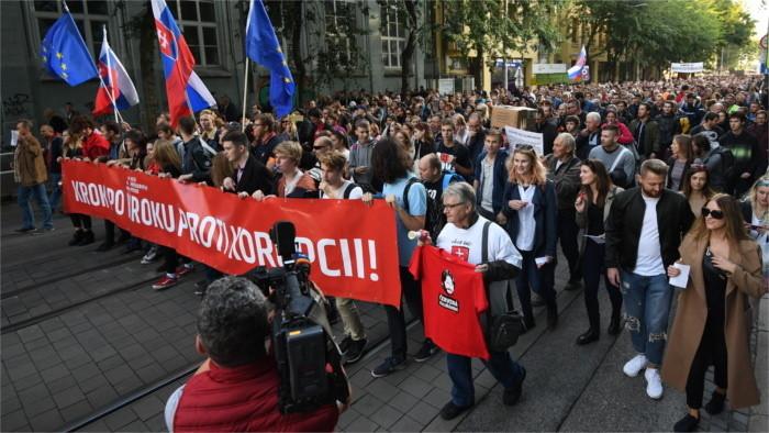 Dritter Marsch gegen Korruption in Bratislava