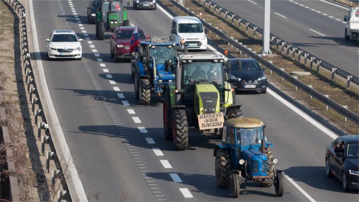 Protestfahrt der slowakischen Landwirte