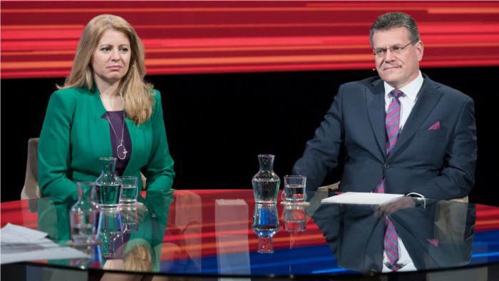 Boj o palác: Čaputová vs Šefčovič