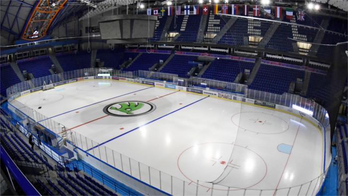 90 ans du hockey sur glace : match d'exhibition Slovaquie - Suède