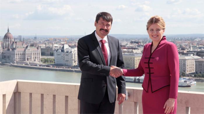 Президент Зузана Чапутова посетила Будапешт