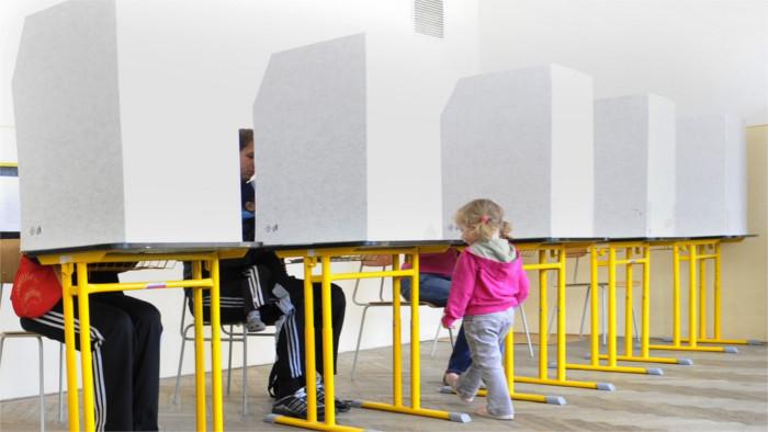 Les intentions de vote des slovaques