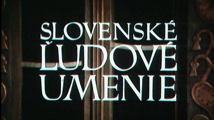 Slovenské ľudové umenie