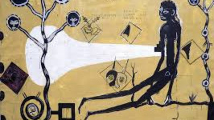 ¿Tal vez haya sido una pantera negra que atrajo al pintor eslovaco, Stano Černý, a la selva mexicana?