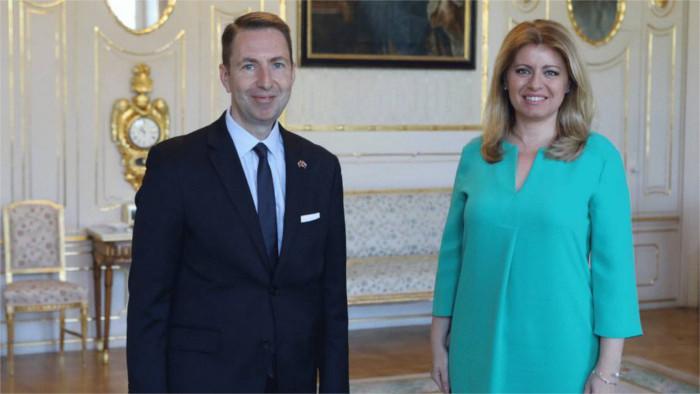 Президент Чапутова встретилась с послом Великобритании