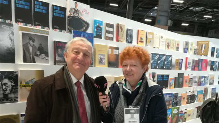 Le stand de la Slovaquie à Livre Paris 2019