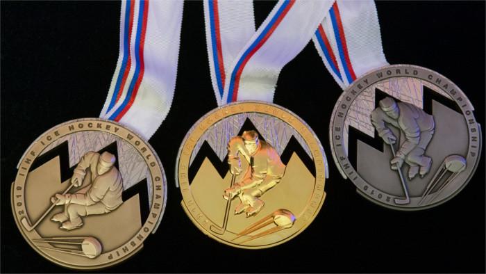 Preparadas las medallas para el Campeonato Mundial de Hockey sobre Hielo
