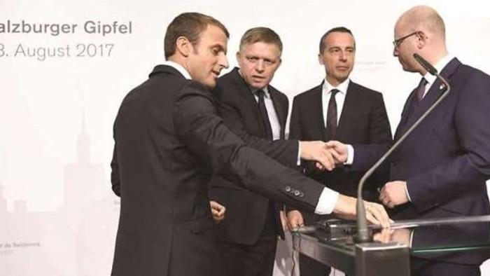 Mag-Európa, Macron és a szlavkokvi hármak