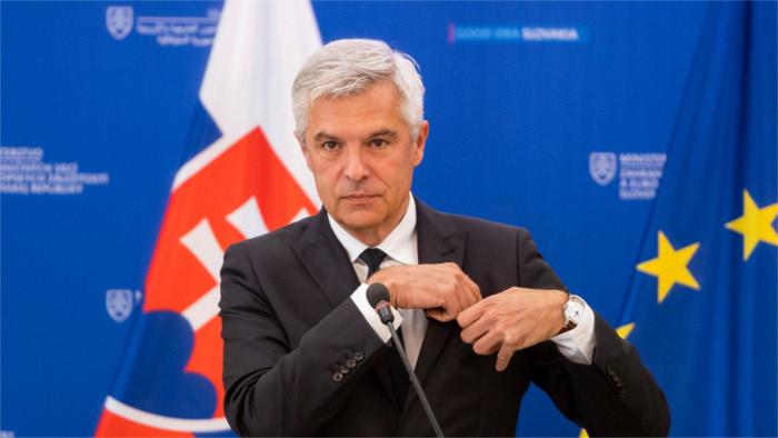 Korčok presentó las prioridades de la política exterior de Eslovaquia