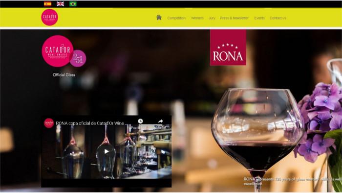 La copa de cristal eslovaca seleccionada como cáliz oficial de Catad'Or Wine Awards