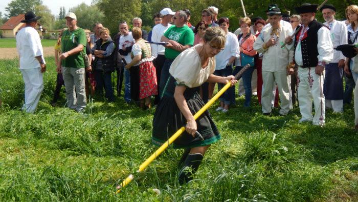 V Kútoch obnovili tradíciu ručného kosenia trávy