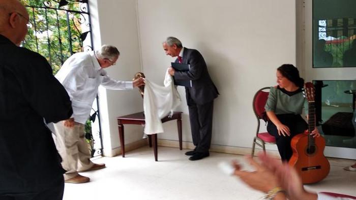 Inaugurado un lugar martiano en la embajada eslovaca en La Habana