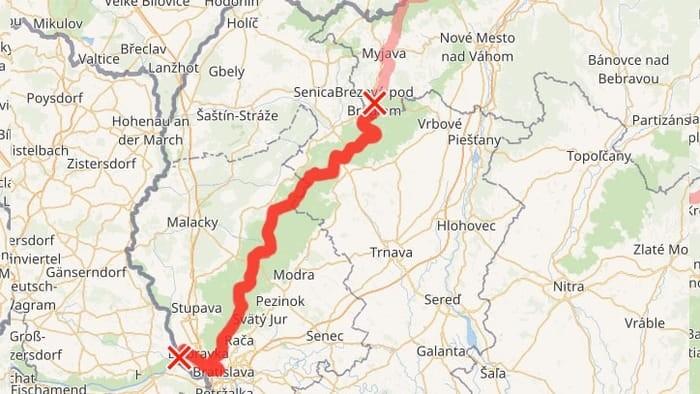 Cesta hrdinov - Malé Karpaty