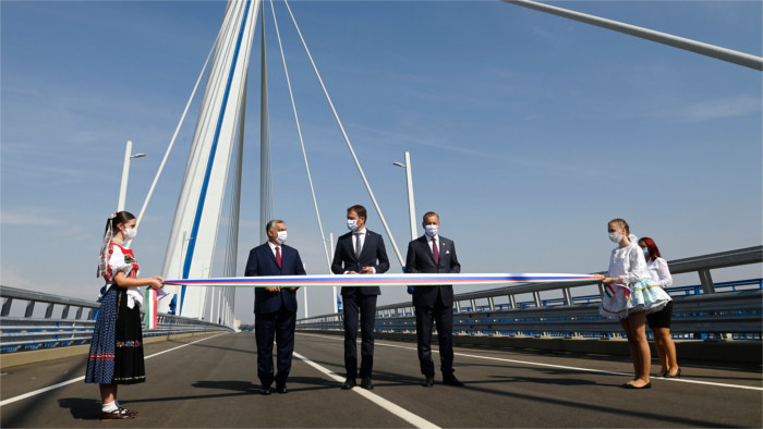 Komarno - Komarom Bridge opened on Thursday