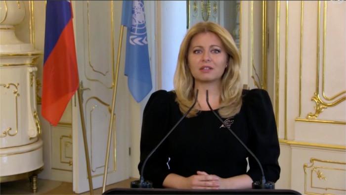 A l'ONU, la présidente Čaputová demande un vaccin accessible à tous