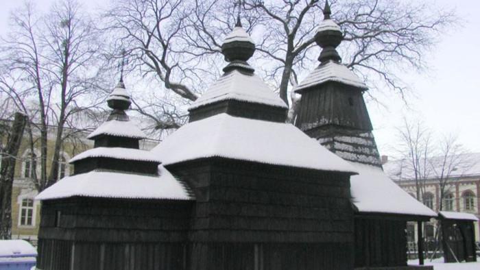 Drevený kostolík z Kožuchoviec v Múzeu