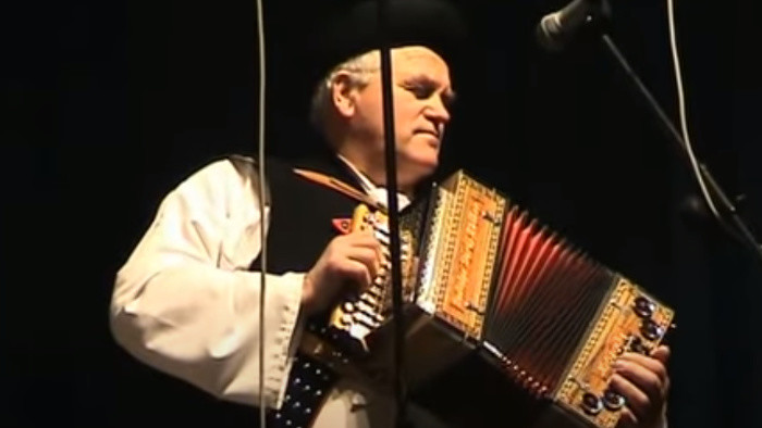 Heligonkár a folklórista Ján Miho z Terchovej