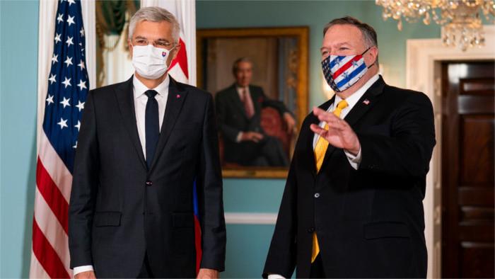 Глава МИДа И. Корчок в Вашингтоне подписал совместное заявление с США