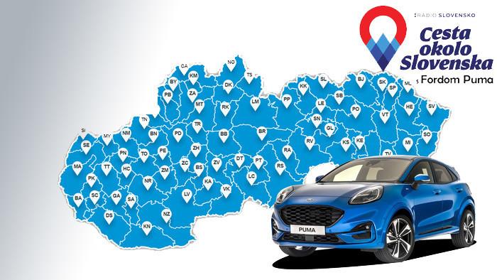 Poznáme víťazov súťaže Cesta okolo Slovenska s Fordom Puma