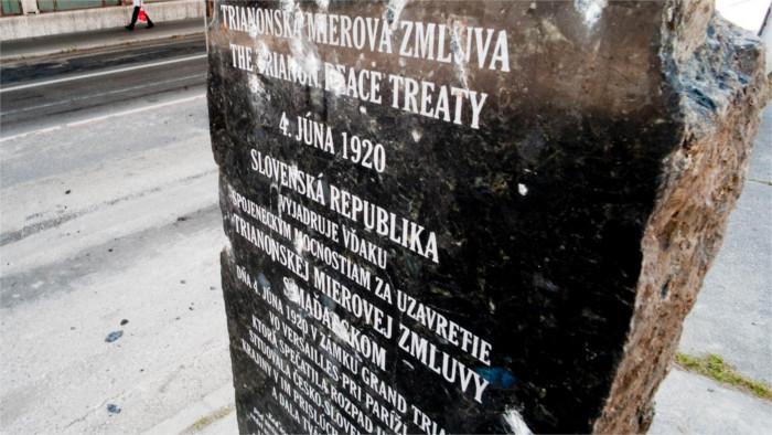 100 rokov Trianonskej mierovej zmluvy