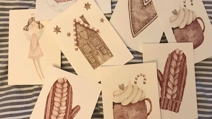 Zuzana Čičová diseña postales navideñas de papel