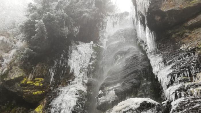 Водопад Bystrô в Центральной Словакии