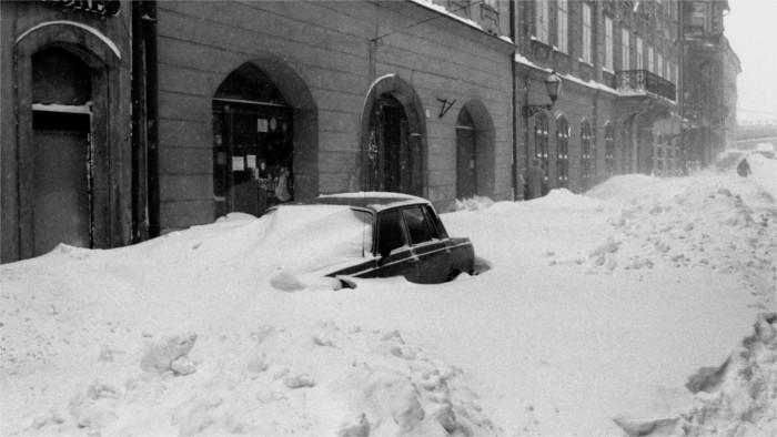 Le 12 janvier 1987 : La ville de Bratislava croule sous la neige