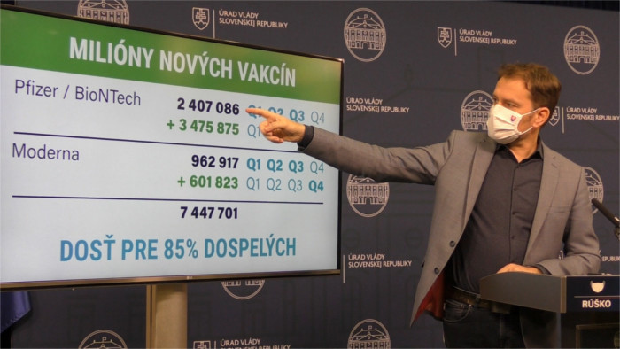 Según afirma el premier, Eslovaquia tiene suficientes vacunas