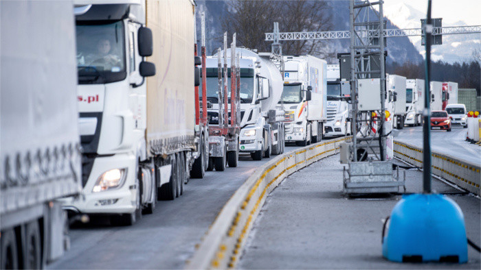 Protests against mandatory tests for lorry drivers entering Germany