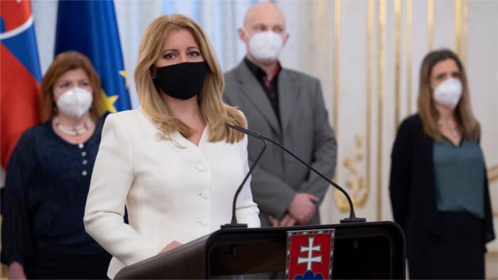 Präsidentin Čaputová: Lage äußerst ernst