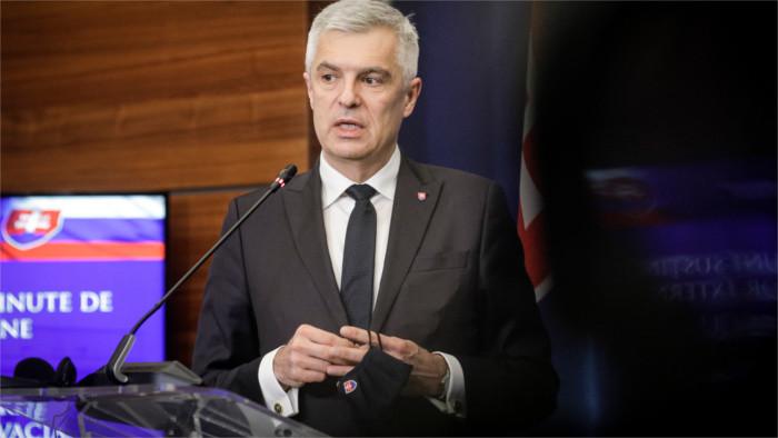 Korčok se entrevista en Bruselas con sus homólogos de la Unión Europea