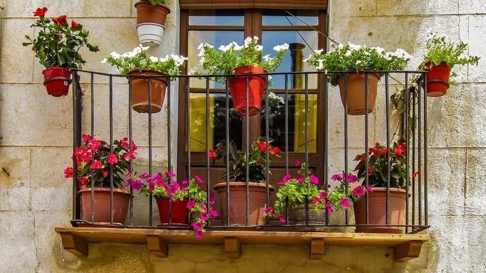 Záhradka na balkóne