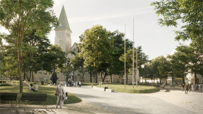 Living Square Project to make Bratislava city centre greener and carless