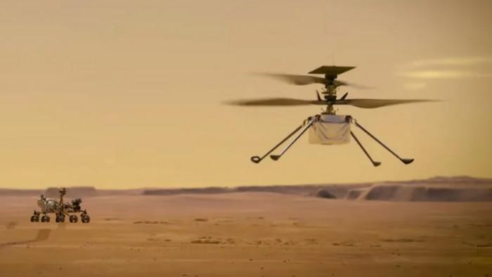 Először emelkedett magasba egy idegen égitesten egy földi jármű