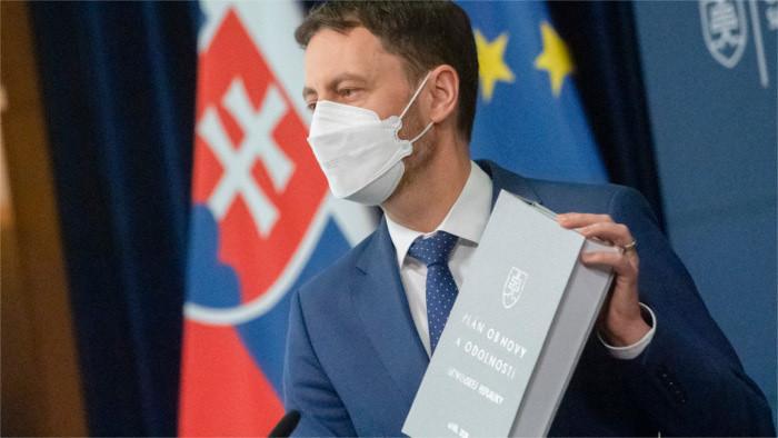 Comisión Europea recibe el Plan eslovaco de Recuperación y Resistencia