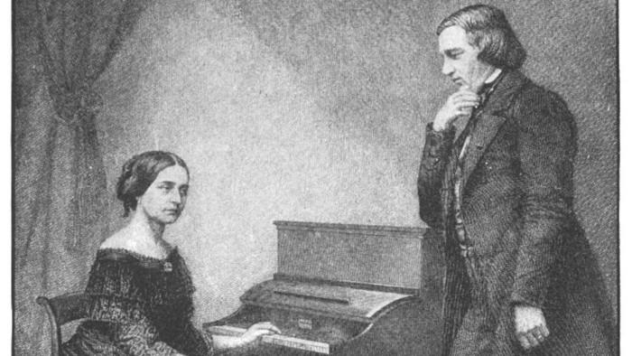 Klaviristka Clara Schumannová