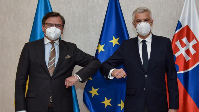 La diplomatie ukrainienne remercie la Slovaquie