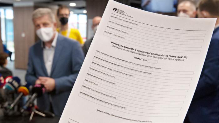 В Словакии начали выдавать прививочные сертификаты