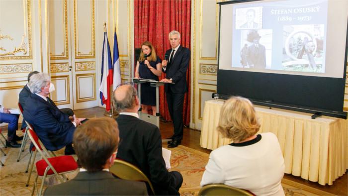 Eslovaquia recuerda establecimiento de relaciones diplomáticas con Francia