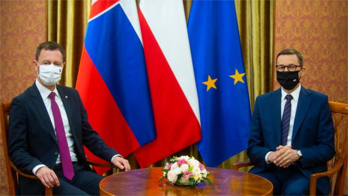 El primer ministro de visita en Polonia