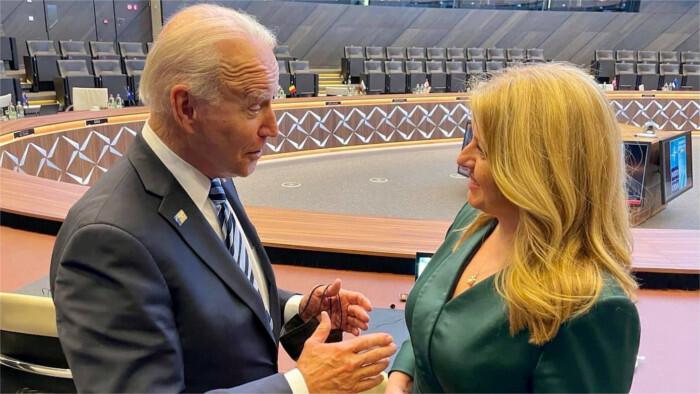 Čaputová meets Biden