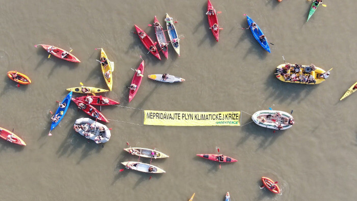 NGOs against LNG terminal on Danube: Gas fuels climate crisis!