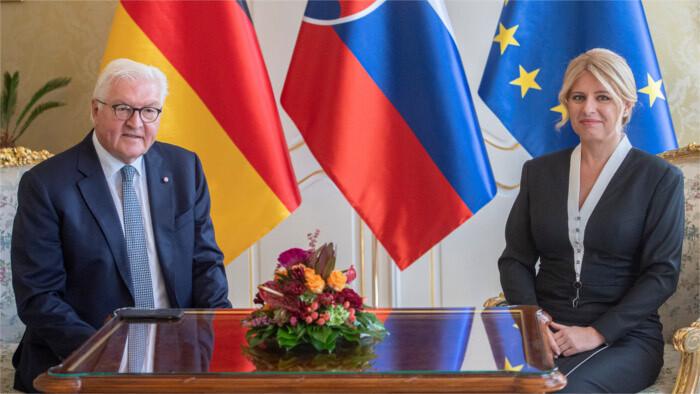 Frank-Walter Steinmeier in Bratislava: Die Slowakei ist Schlüsselpartner in Europa